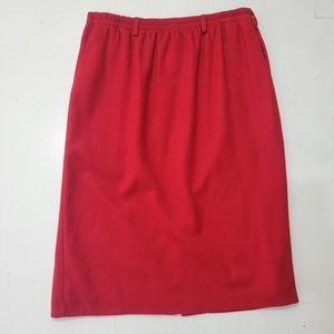 Vintage Alfred Dunner Red Wool Skirt